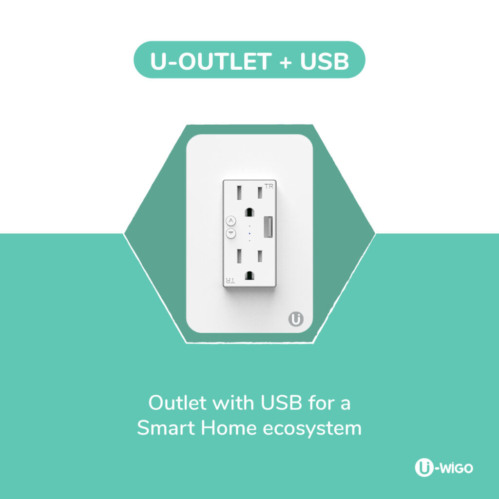 SMART OUTLET_IN-WALL OUT LET WITH USB_IOT_WIFI